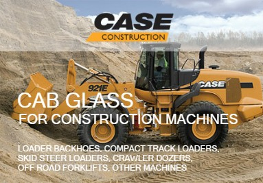 Cab Glass For Case-IH Construction Machines: Excavators, Loaders, Graders