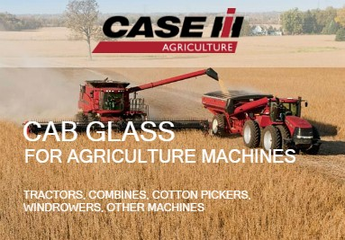 Cab Glass For Case-IH Agriculture Machines: Tractors, Combines, Windrowers
