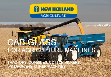 Cab Glass For Ford / New Holland Agriculture Machines: Tractors, Combines, Windrowers