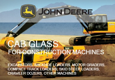 Cab Glass For John Deere Construction Machines: Excavators, Loaders, Graders